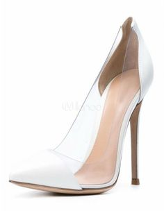 9259c489f Clear High Heels Red Court Shoes Pointed Toe Stiletto Pumps Shoes For Women