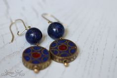 NonnaSoul Tibetian earrings with lapis lazuli - Earrings - Jewelry