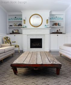 miners cart coffee table by Dream Book Design #minerscart #coffeetable