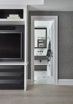 Ali Budd Interiors is a full-service design studio, Toronto-based but globally available. Built In Wall Units, Wall Unit Designs, Built Ins, Service Design, Tall Cabinet Storage, Home Appliances, The Unit, Flooring, Bedroom