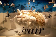 HOLT RENFREW 'IN THE AIR' SPRING WINDOW DISPLAY More photos: http://thebwd.com/holt-renfrew-air-spring-window-display/