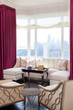 Traditional Living Room with Designers Guild Monceau Velvet Upholstery and Curtain Fabric, Hardwood floors, Crown molding