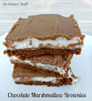 These brownies are the BOMB-DOT-COM!!!!  I was craving some chocolate and these fit the bill. The layer of marshmallow really adds something different, which I love. Thank you SixSistersStuff for these delectable, famous brownies! Double Chocolate Coconut Brownies | Six Sisters Stuff