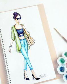 Fashion model silhouette drawing ideas for 2019 Dress Design Sketches, Fashion Design Sketchbook, Fashion Design Drawings, Fashion Sketches, Fashion Moda, Fashion Art, Trendy Fashion, Dress Illustration, Fashion Illustration Dresses