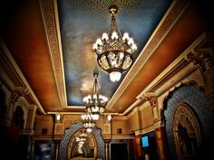 "See 321 photos from 4045 visitors about architecture, comfortable seats, and films. ""The theater room is a gorgeous piece of architecture, either here. Budapest, Four Square, Chandelier, Ceiling Lights, Movie, Lighting, Architecture, Home Decor, Arquitetura"