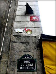 Le Space Invader de la rue du Chat-qui-Pêche (Paris 5ème).