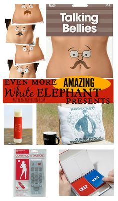 White Elephant Gift ideas- funny!