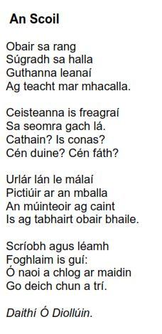 Irish Poems, Gaelic Words, Irish Language, 5th Class, Scottish Gaelic, Primary Teaching, Love Poems, Beautiful Words, Poems