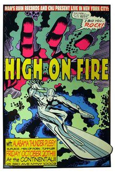 High On Fire by Frank Kozik