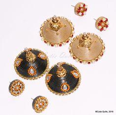 Paper earrings - stud type