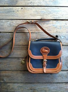 Vintage Dooney and Bourke Genuine Leather Purse Handbag- I adore this bag, think it is almost as old as my darlings....