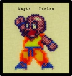 Krillin Dragon Ball Z hama perler by Alice Tobbi