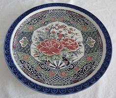 TOYO-Japanese-Decorative-Plate-with-Flower-Design.jpg (400×340)