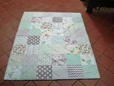 Modern Baby quilt-baby girl quilt baby boy by happyquilts on Etsy
