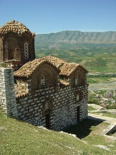 A 14th century Byzantine Berat Church built by Emperor Andronicus III overlooking the valley at Berat, Albania.