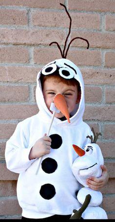 No-sew DIY Olaf costume