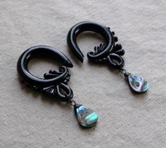 Abalone Warrior Gauges by TheCreatorsCreations on Etsy, $44.00