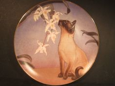 Danbury Mint 1989 Cats And Flowers NOSE IN BLOOM Siamese Cat Ltd Ed Plate | eBay