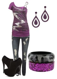 lightening by karlibugg on Polyvore featuring Wet Seal, Steve Madden, Nicholas King and BY SOPHIE