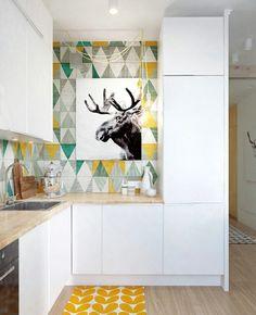 3 Best Tips: Subway Tile Backsplash Bathroom cheap backsplash decor.Subway Tile Backsplash Around Window. Kitchen Tiles, New Kitchen, Kitchen Cabinets, Nordic Kitchen, Kitchen Yellow, Scandinavian Kitchen, Plywood Kitchen, Kitchen Cook, Minimal Kitchen