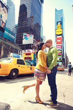 Jon & Maria {Engagement Photos} Times Square & Centeral Park | New York » Lukas & Suzy International Wedding Photographers