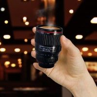 Thermo expresso mug. For all the photographer nerds :) Canon lookalike.