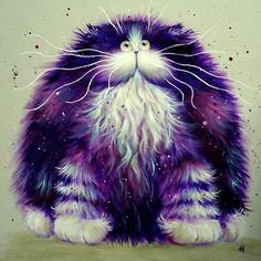 Глазастые кошки художницы Kim Haskins :: Коты и кошки - рисунок, графика, живопись