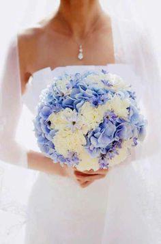 Brautstrauß mit Hortensien in Pastelltönen