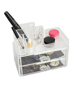 Clear Two-Drawer Jewelry Box by home basics #zulily #zulilyfinds