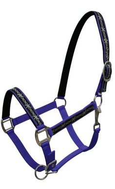 Lime Triple ply Neoprene lined nylon horse size halter with barbwire design overlay