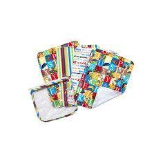 Dr. Seuss Alphabet Seuss Pouch & Burp Cloth Set by Trend Lab, Multicolor