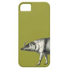 Babirusa Wild Pig Boar Hog Warthog Vintage iPhone 5 Cases