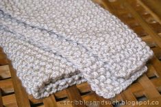 Baby Knitting Patterns Chunky Knitted Baby Blanket - free pattern || scribblesandsu...