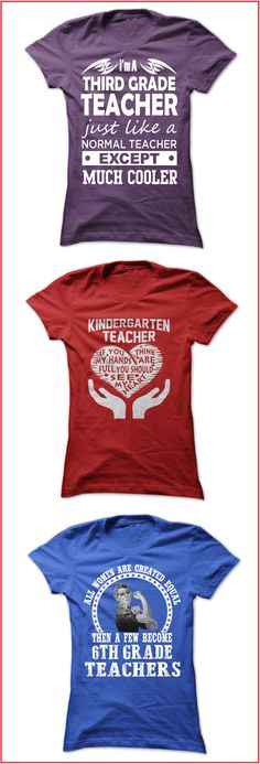 If you're a teacher you'll love these shirts made for teachers! They also make great gifts for all the teachers in your life. Click image to see the full collection of t-shirts and hoodies for preschool, elementary school, middle school, high school and specialty teachers.