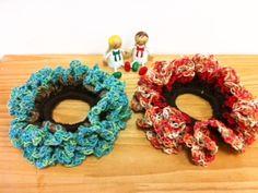 秋色★シュシュの作り方 編み物 編み物・手芸・ソーイング ハンドメイドカテゴリ アトリエ