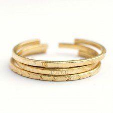 Sole Sister Bangle Set | Sseko Designs #jewelry #bangle #gold