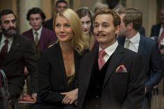 Johnny Depp and Gwyneth Paltrow in Mortdecai (2015)