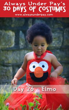Day 26 – Elmo DIY Halloween Costume Tutorial | Always Under Pay's 30 Days of Costumes