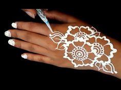 ᴴᴰ Simple White Henna Art White Henna, Henna Art, Editor, Make It Yourself, Tattoos, Simple, Tatuajes, Tattoo, Tattos