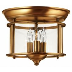 Buy the Hinkley Lighting Heirloom Brass Direct. Shop for the Hinkley Lighting Heirloom Brass 3 Light Semi-Flush Ceiling Fixture from the Gentry Collection and save. Brass Ceiling Light, Ceiling Light Fixtures, Ceiling Lights, Semi Flush Lighting, Hinkley Lighting, Candelabra Bulbs, Flush Mount Ceiling, Antique Lighting, Messing