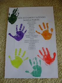 ESPAÇO EDUCAR: Atividade: Livro do Meio-ambiente carimbando as mãos!