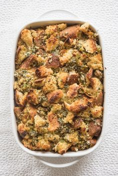 SO BROWN. SOOOOO CRISPY. | How To Make The Perfect Classic Stuffing For Thanksgiving