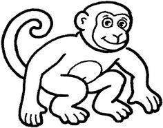 Kleurplaten Apen.95 Beste Afbeeldingen Van Dierentuindieren Kleurplaten In