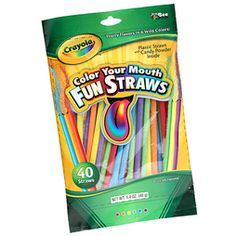 Crayola Color Your Mouth Candy Powder Filled Straws: Bag Learn To Spell, Food Goals, Art Party, Pop Tarts, Rainbow Colors, Girl Birthday, Candy, Fun Ideas, Party Ideas