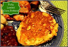 Sweet Tea and Cornbread: Fully Loaded Corn Fritters!