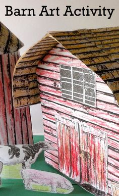 Barn Art Activity-Perfect for group projects, reading fairs, and book reports!
