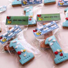 1 Yaş Kurabiyesi / Doğum Günü Kurabiyesi / Çocuk Kurabiyesi Kids Cookie / 1 st Birthday Party