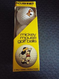 Vintage Walt Disney World Mickey Mouse Golf Balls Titleist Acushnet Surlyn Cover #Titleist