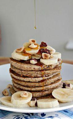 Wholehearted Eats : Cozy Banana Bread Pancakes.