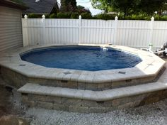 Semi-inground Ultimate Pool by Fabcote!